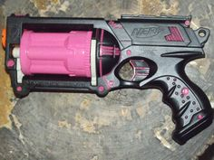 Tough Pink & Black Custom Painted/Modified Nerf by CustomsByDave