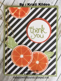 stampin up Apple of My Eye stamp set. Swaps from On Stage 2016 Convention in… Fruit Crafts, Stampin Up Catalog, Beautiful Handmade Cards, Stamping Up Cards, Thanksgiving Cards, Card Maker, Paper Pumpkin, Greeting Cards Handmade, Homemade Cards