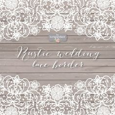 Vector lace wedding border clipart by burlapandlace on @creativemarket