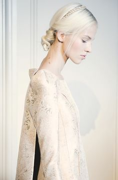 Sasha Luss backstage at Valentino HC (A/W 2013-14) photographed by Giacomo Cabrini