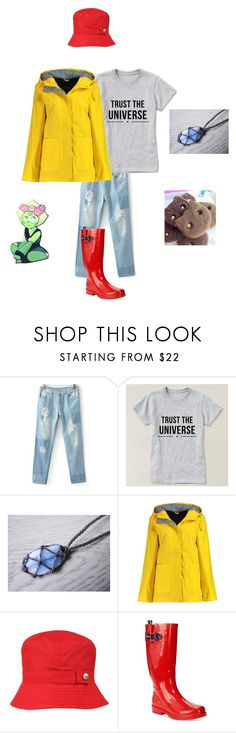 """Steven Universe a Friend for Perry"" by andicandy231 ❤ liked on Polyvore featuring Boohoo, Totes and Nautica"