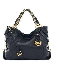 MICHAEL Michael Kors Tristan Large Shoulder Tote Black Leather  Go For Michael Kors Hamilton Slouchy Medium Black Satchels, This Is A Wonderful For You!   Now: :Only::$101.40
