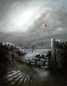 Bob Barker Art : With a Little Help from Me Friend Yorkshire, Go Fly A Kite, Cool Art Drawings, Urban Life, Environmental Art, Types Of Art, Watercolor Paintings, Art Paintings, Watercolour