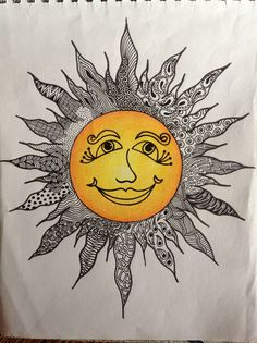 ideas for zentangle art dibujos luna Sun Moon Stars, Sun And Stars, Zentangle Drawings, Zentangle Patterns, Zentangles, Tangled Sun, Sun Drawing, Zen Pictures, Sun Worship