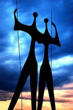 Bruno Giorgi's - monumental bronze sculpture known as Os Guerreiros (The Warriors)