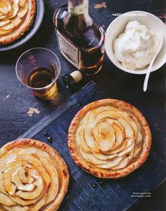 french apple tarts + calvados cream. One of my Normandy favorites!