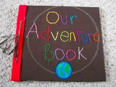 """Check out Tribe member Aalg's wedding guestbook, modeled after the """"Our Adventure Book"""" from the movie (read: cry fest) Up. Don't you love it when Disney amazingness comes to life?"""