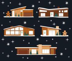 Ideas for house modern minimalist mid century Modern Christmas, Retro Christmas, Christmas Home, Modern Craftsman, Craftsman House Plans, Christmas Gingerbread House, Gingerbread Houses, Mid-century Modern, Modern Minimalist