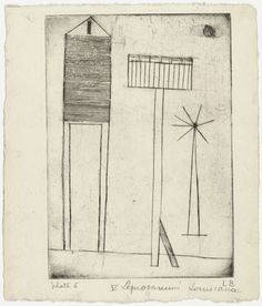 Louise Bourgeois. Untitled, plate 6, third version, state II, from He Disappeared into Complete Silence. (1946-1947)