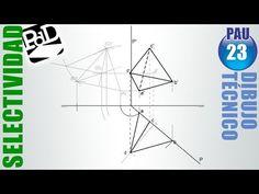 PAU #023 Diédrico:Tetraedro conocida una arista de una cara vertical (Selectividad Madrid/2009) - YouTube
