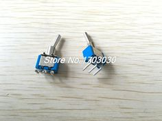 10 Pcs 3A/250VAC on/on 2 Way SPDT Right Angle 3 Pins PCB Mount Toggle Switch