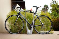Trio Bike Rack shown with Aluminum Texture powdercoat