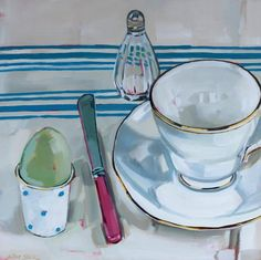 Still Life - Olive Stack Gallery Be Still, Still Life, Duck Egg Blue, People Art, Easter Eggs, Blues, China, Oil, French