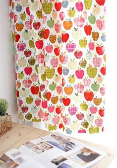 Apple Blossom Design 30s Cotton Fabric by luckyshop0228 on Etsy, $11.50