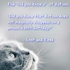 """(The """"Did you know's"""" of #Autism) has been published on Lost and Tired   #Autism Awareness by Rob Gorski via www.lostandtired.com"""