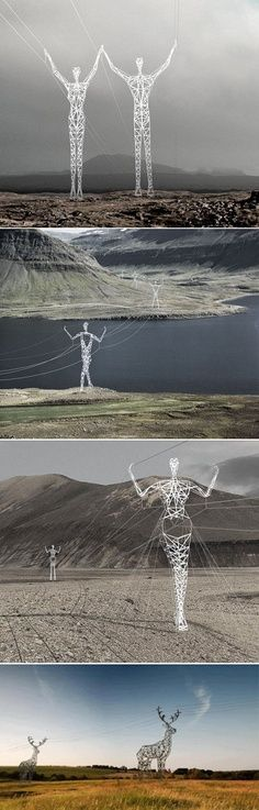 Power poles. Iceland. So cool.