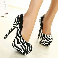 I love zebra print anything!! Also I love anything fashionable.....LIKE THESE SHOES!!!!!!