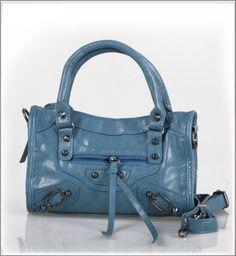 Vintage Rivets Hand Bag Blue on BuyTrends.com