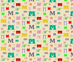Initially_M by lesleyclover-brown, click to purchase fabric