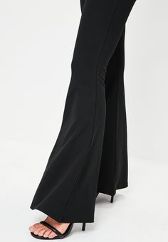 Missguided - Black Kick Flared Trouser