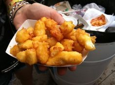 MN State Fair cheese curds at home. These are the BEST! Deep Fried Cheese Curds, Cheese Fries, Minnesota Food, Minnesota State Fair, Appetizer Recipes, Snack Recipes, Cooking Recipes, Dairy Recipes, Cooking Tools