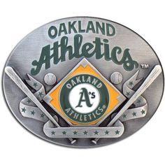 Oakland Athletics MLB Enameled Belt Buckle