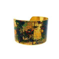50% OFF SALE JEWELRY - Brass Cuff Bracelet - Wearable Art Jewelry - Statement Bracelet - Artistic Jewelry - Elegant Bracelet