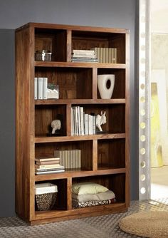 More Than 30 Awesome Built In Bookshelves Rustic Bookcase, Crate Bookshelf, Wood Bookshelves, Modern Bookcase, Bookshelf Design, Classic Furniture, Diy Furniture, Furniture Design, Modern Wood Furniture