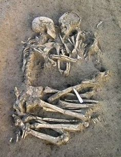 "This ""Romeo and Juliet"" couple was found near Rome, having been buried in dirt together for thousands of years. The last thing they experienced in life was each other. Love conquers all."