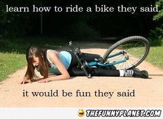 Learning To Ride Bike Fml Bike Ride Bike Meme Bike