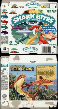 General Mills - Fruit Corners - Shark Bites - Fruit Punch - fruit snacks - box - 1991 by JasonLiebig, via Flickr