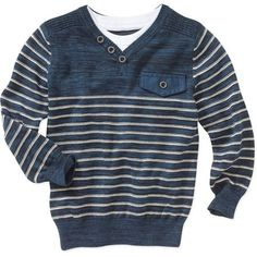 George UK Baby Toddler Boy's Military Stripe Sweater