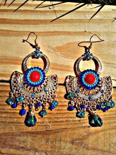 Exotic earrings by LittleBlueberryHaze on Etsy, $16.00