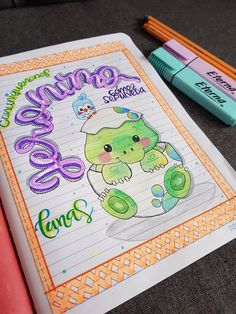 Notebook, Lettering, Sketchbook Cover, Creative Notebooks, Decorated Notebooks, Diy Crafts, Drawing Letters, Texting, The Notebook