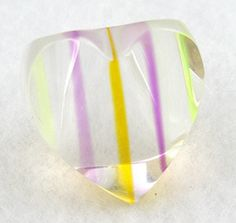 Lucite Heart Ring - Garden Party Collection Vintage Jewelry