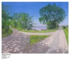 Wladyslaw Mirecki: Loveneys (watercolor - 2013)....looks like a photograph..which road to take? Always the question..