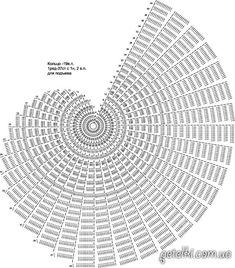 схема спиральной салфетки