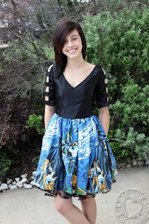 Star Wars Prom Dress with Tutorial for Fabric strip sleeves
