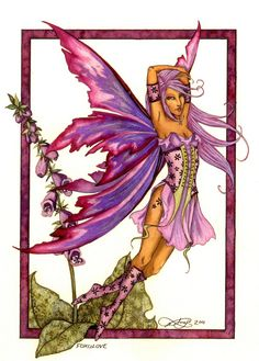 Foxglove Fairy  by: Amy Brown