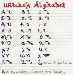 from: The Smokey Cauldron Community ~ Spell book idea Alphabet Code, Alphabet Symbols, Alphabet Images, Magick Spells, Wiccan Witch, Magic Symbols, Ancient Symbols, Witch Symbols, Witchcraft Symbols
