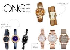tendencia-relogio-feminino-2016 relógio marrom, relógio azul, relógio preto, ouro rosa ouro rosé caixa pequena acessórios