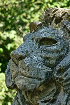Lion statue (Ópusztaszer, Hungary)