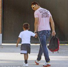 Doting dad: Footballer Cristiano Ronaldo brought his adorable four-year-old son Cristiano ...