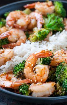 Sheet Pan Honey Garlic Shrimp and Broccoli -- LOVE this easy recipe!