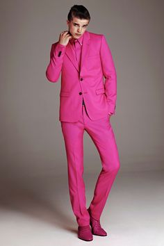HOT! /pink! Red /blue /yellow men suit (Jacket   pants) male ...