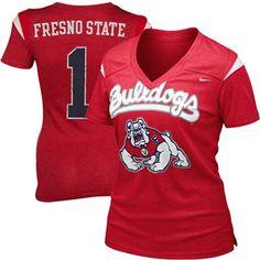 Nike Fresno State Bulldogs Ladies Premium Football Replica T-Shirt - Cardinal - 32$