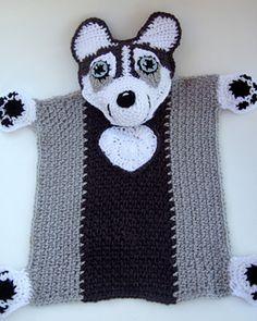 Husky lovey blanket crochet pattern (not free)