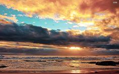 Peaceful Ocean Sunset ~ Marvelous Nature