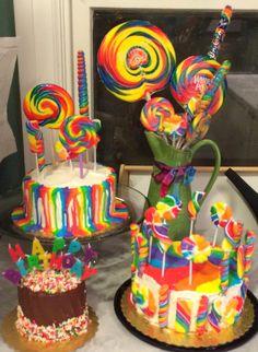 Rainbow cakes by Meg Flickinger