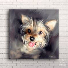 YORKIE Yorkshire Terrier DOG Canvas Gallery Wrap par STASgallery
